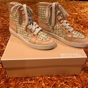 Micheal Kors High Top Studded Sneakers